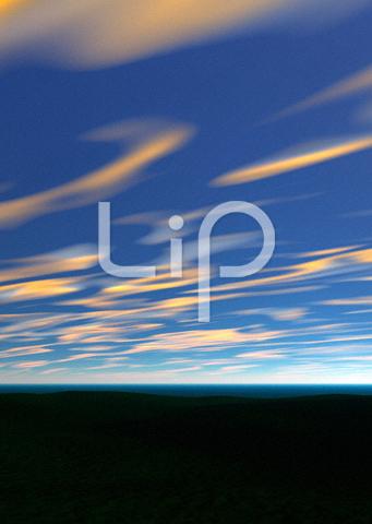 平原と流れる雲