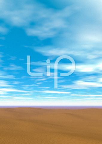 砂漠と明るい空と雲