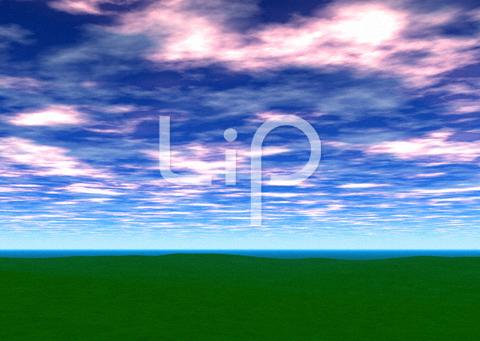 平原と赤い雲