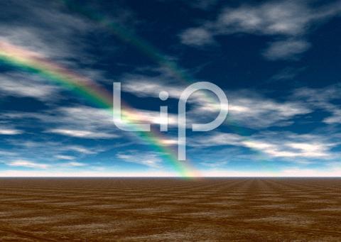 荒野と雲と虹