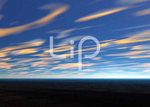 荒野と流れる雲