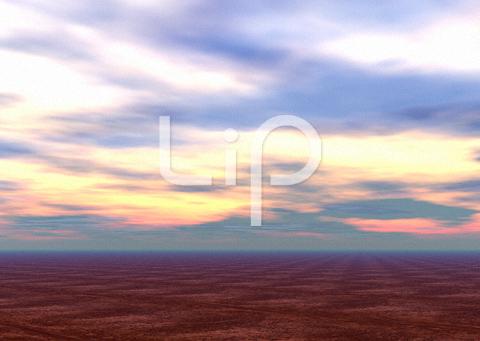 荒野と朝焼け雲