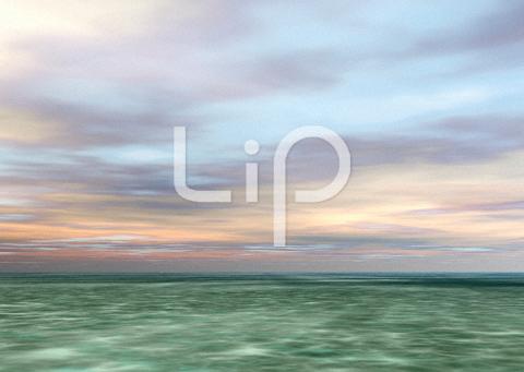 浅瀬と朝焼けと雲